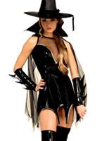 Costume de sorcières magie noire Halloween Costume Femme