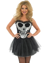 Crâne fastueux Tutu Dress Costume Halloween Costume Femme