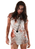 Le Costume d'infirmière Zombie mort marche Halloween Costume Femme