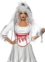 Costume de mariée fièvre sang goutte à goutte Halloween Costume Femme