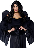 Costume d'ange gothique Manor Black Cemetery Halloween Costume Femme