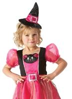 Kitty Costume de sorcière pour enfants Halloween Costume Fille