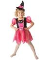 Halloween Costume Fille Kitty Costume de sorcière pour enfants
