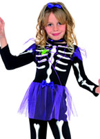 Costume de Childrens Skellie Punk fille Halloween Costume Fille