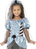 Costume de mariée gothique pour enfants Halloween Costume Fille