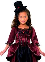 Costume de vampire rouge pour enfants Halloween Costume Fille