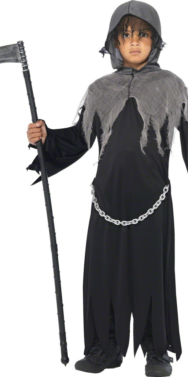 costume pour enfants grim reaper halloween costume gar on. Black Bedroom Furniture Sets. Home Design Ideas