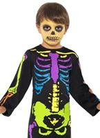 Costume de garçon Multi-Neon Skelton punky Halloween Costume Garçon