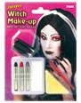 Halloween Maquillage Sorcière maquillage Set rouge blanc noir gris
