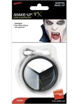 Maquillage Vampire mis noir blanc gris Halloween Maquillage