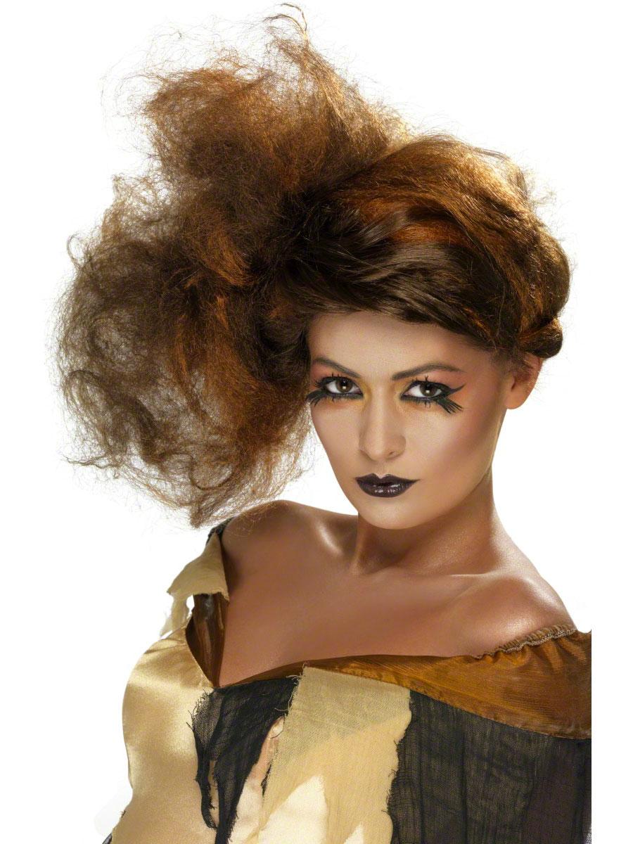 Halloween Perruque Belles salope brune perruque