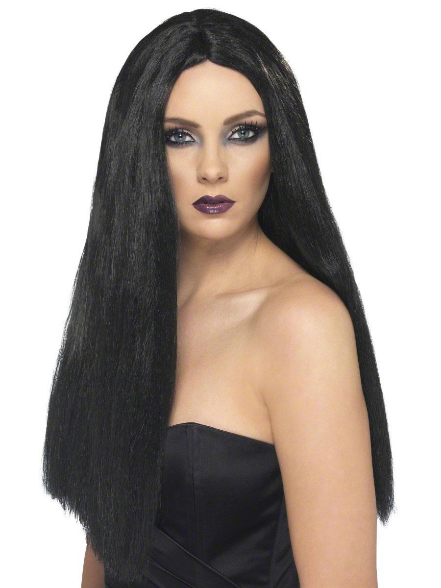 Halloween Perruque Perruque de sorcière noir