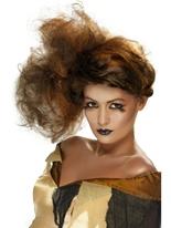 Belles salope brune perruque Halloween Perruque