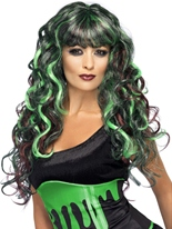 Perruque de sirène Halloween Perruque