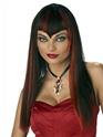 Halloween Perruque Noir plein de vivacité et Ruby Vamp perruque