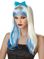 Enchantred Tresses bleue perruque Halloween Perruque