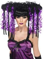 Perruque gothique Emo violet Halloween Perruque