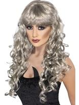 Sirène d'argent perruque Halloween Perruque