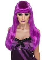 Perruque de sorcière Glamour Purple Halloween Perruque