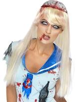 Perruque de lobotomie Halloween Perruque