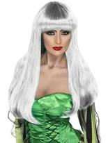 Perruque de sorcière blanche Glamour Halloween Perruque