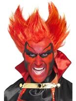 Firestarter hérissé perruque rouge jaune Halloween Perruque