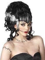 Perruque de maîtresse du monstre Halloween Perruque