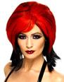 Halloween Perruque Vampiress perruque rouge et noir