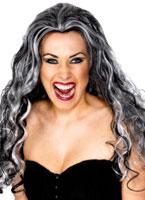 Renaissance Vampire perruque noir Halloween Perruque