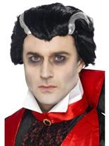 Comte Vlad perruque noir Halloween Perruque