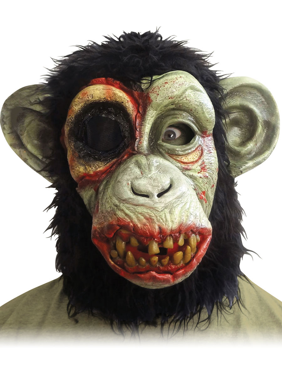 Masque Halloween Masque de chimpanzé Zombie