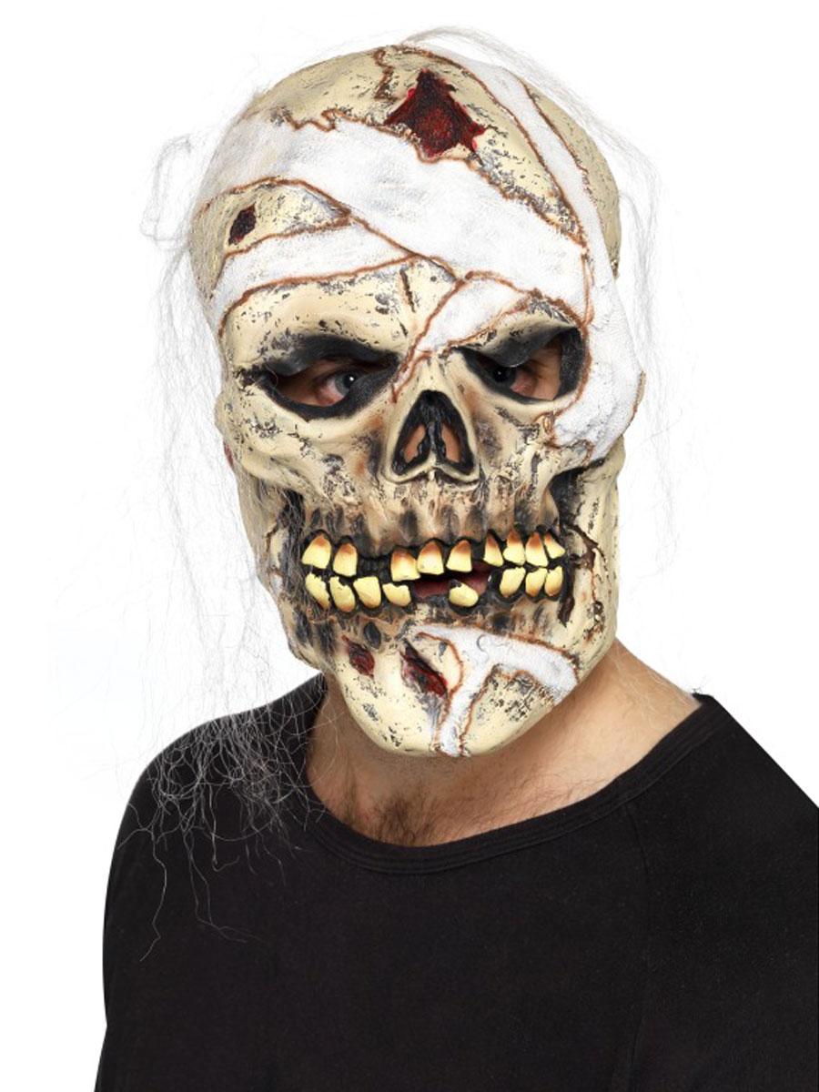 masque de momie de cr ne masque halloween costume halloween 03 11 2018. Black Bedroom Furniture Sets. Home Design Ideas