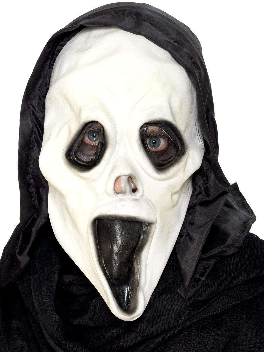 Masque Halloween Screamer masque et capot en caoutchouc