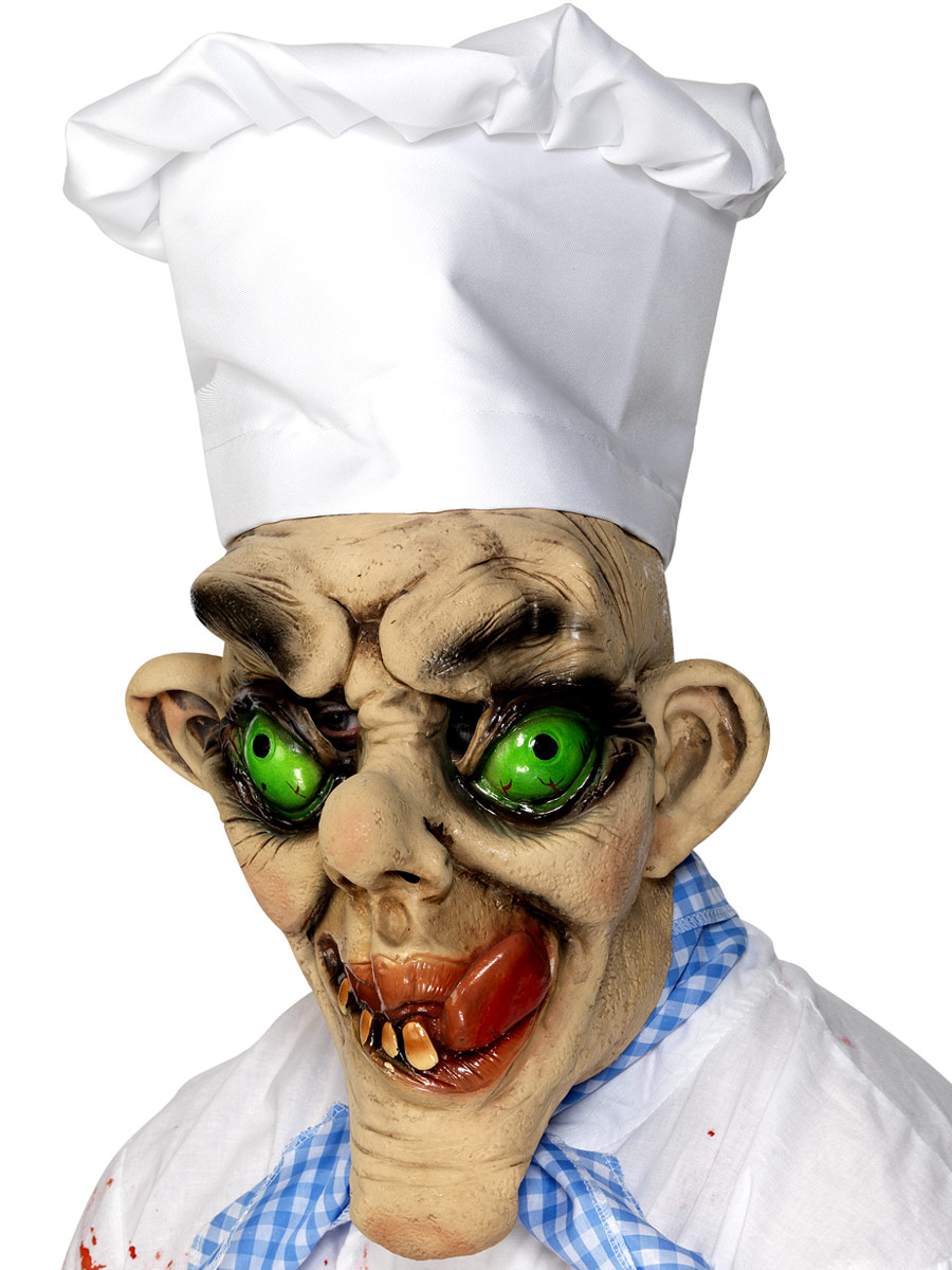 Masque Halloween Chef fou grand masque visage de 3/4