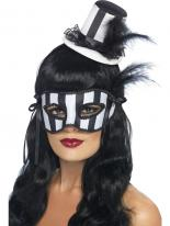 Chapeau Burlesque grotesque & Eyemask Set Masque Halloween