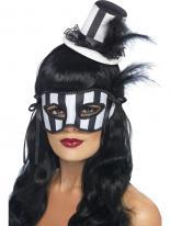 Chapeau Burlesque grotesque & Eyemask Set Masque Halloween