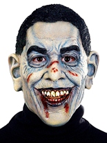 Masque de Zombie fou de Barack Obama Masque Halloween