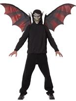 Ailes et masque de vampire Masque Halloween