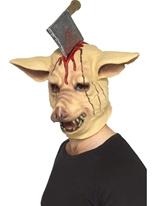Masque de tête de cochon avec couteau Masque Halloween