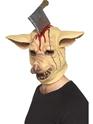 Masque Halloween Masque de tête de cochon avec couteau