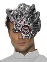 Demi masque robot Masque Halloween