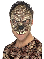 Demi masque loup-garou Masque Halloween