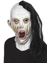 Screamer masque avec cheveux noirs Masque Halloween