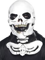 Masque de squelette avec la clavicule Masque Halloween