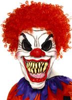 Masque effrayant de Clown avec cheveux Masque Halloween