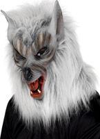 Wolf généraux masque argent caoutchouc fourrure Masque Halloween