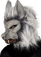 Masque de loup garou en argent en caoutchouc Masque Halloween
