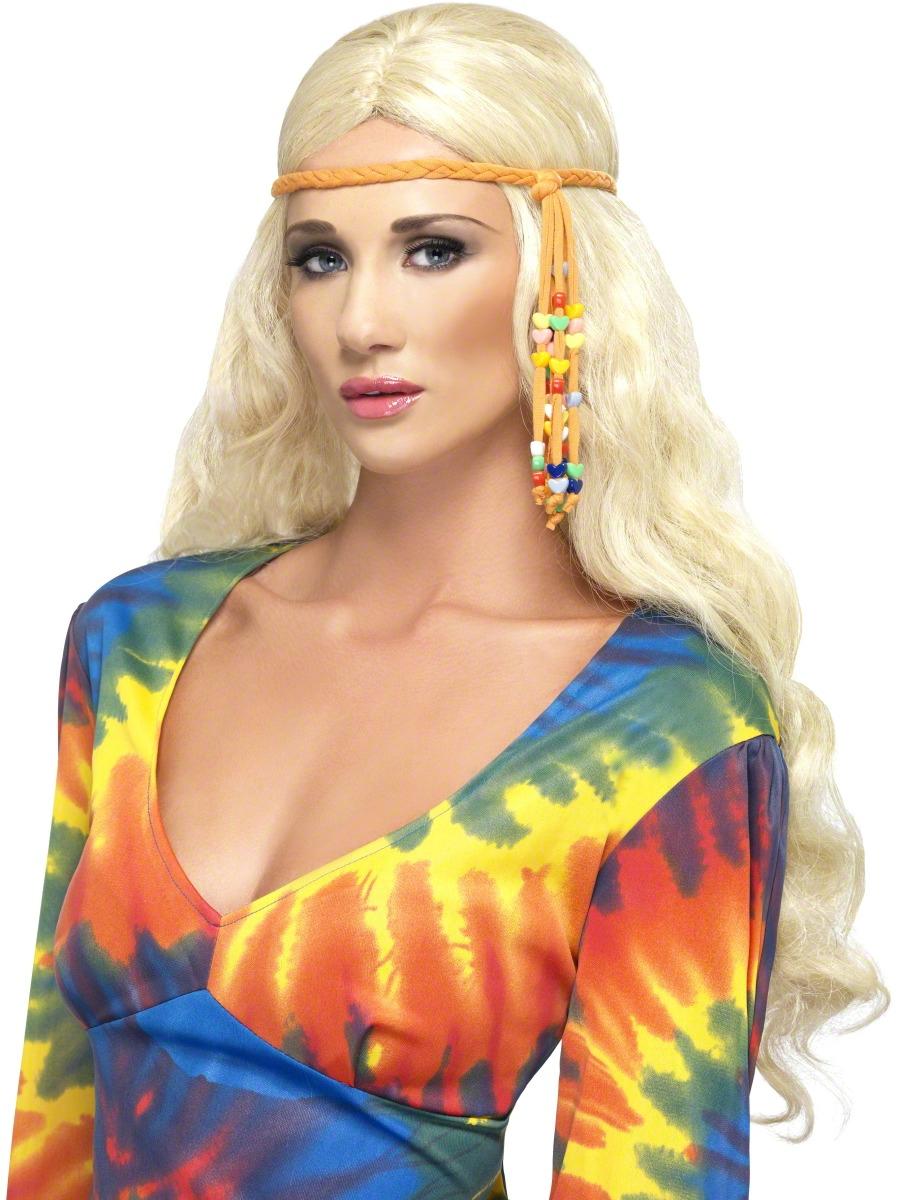 Accessoires Hippie 60 s hippie perlée bandeau