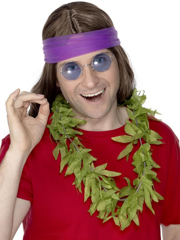 Accessoires Hippie Guirlande de feuilles chanvre cannabis