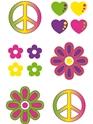 Accessoires Hippie Tatouages Tempoarary 60 ' s
